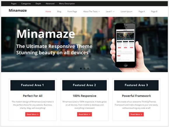 Minimaze WordPress Theme