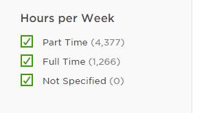 Hours Per Week Filter