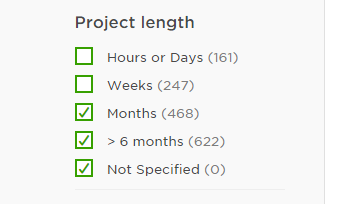 Project Length Filter